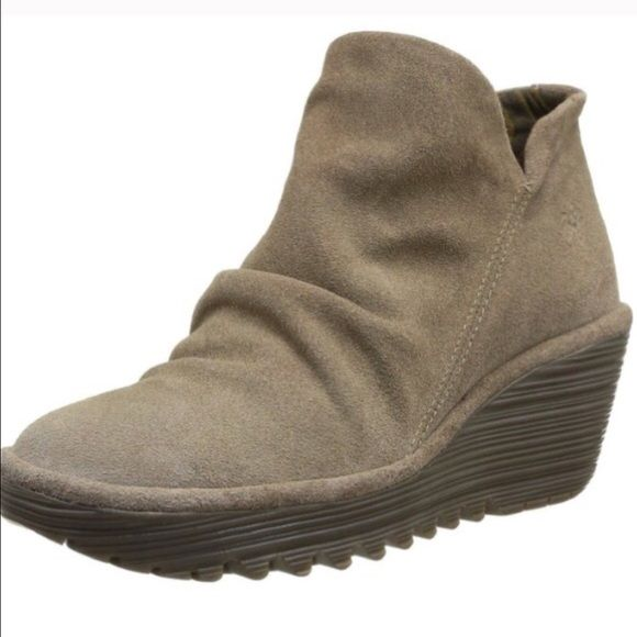 FLY LONDON Yip Suede Ankle Booties New, natural color boot. Worn once. Perfect walking boot!! Incredibly stylish and so comfortable! Will fit a size 10 with a thicker sock. European size 41.  Fly London Shoes Ankle Boots & Booties