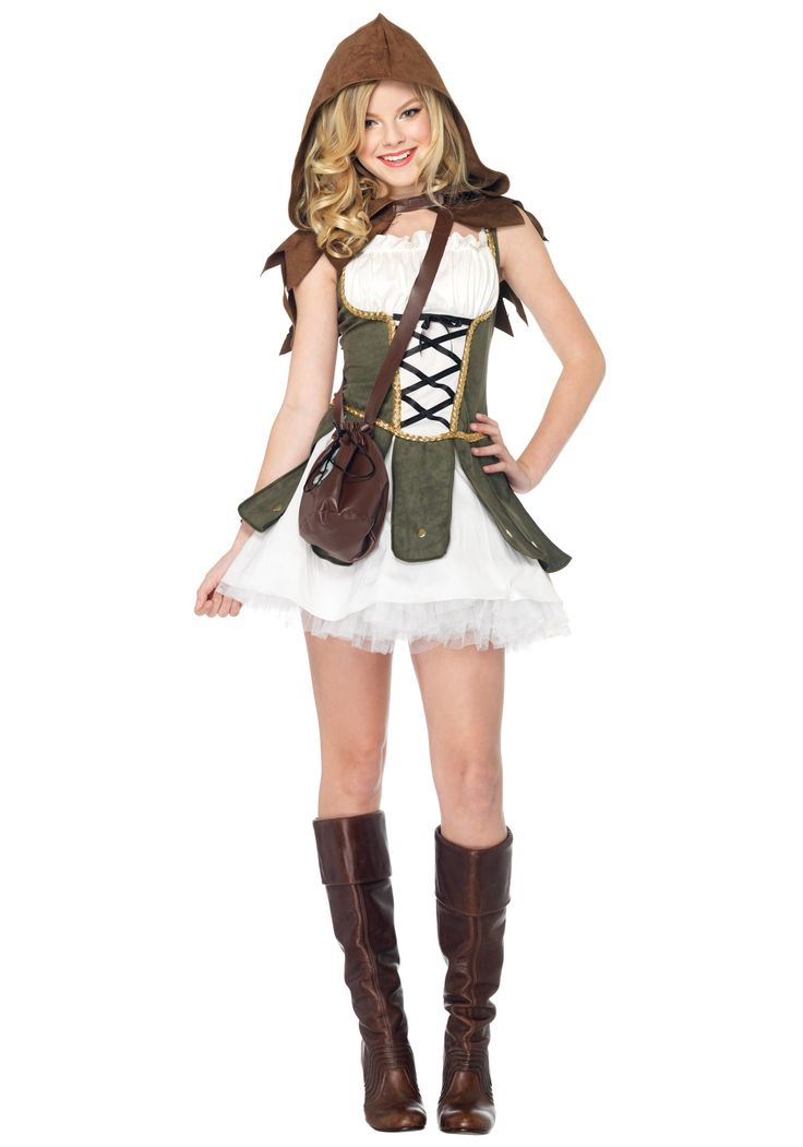 Teen Girls Robin Hood Costume  Halloween  Tween Halloween Costumes -3881