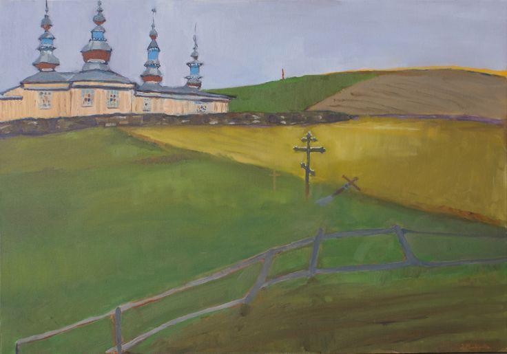 Bieszczady, Jan Markiewicz, olej na płótnie, 100 x 70 cm, 2015