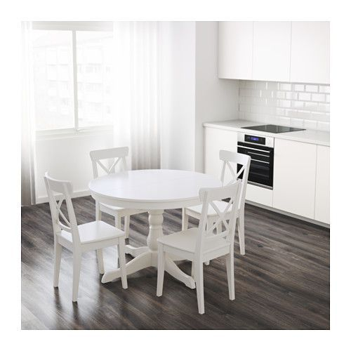 25 best ideas about round extendable dining table on pinterest rustic round dining table - Ikea round extendable table ...