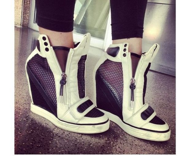 Best 25  Wedge heel sneakers ideas on Pinterest | High heel ...