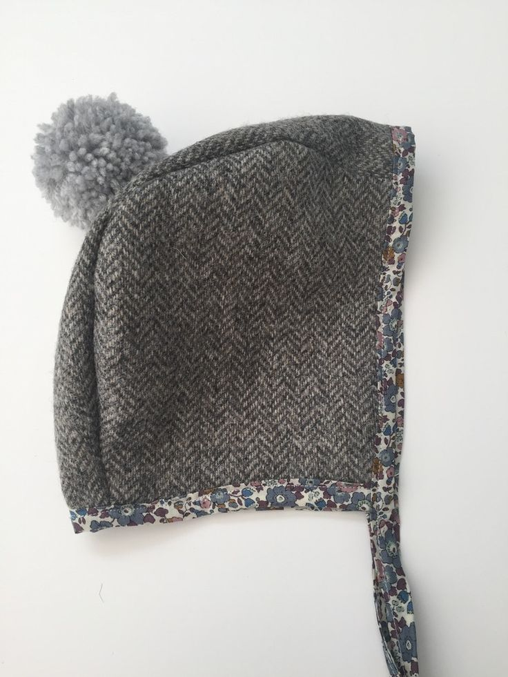 Image of *Pre order* Yorkshire Tweed Pom Pom Liberty Betsy Ann Winter Bonnet