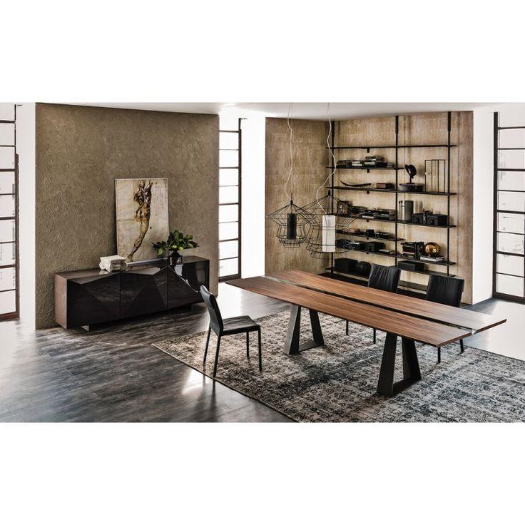 Tavolo design legno e ferro