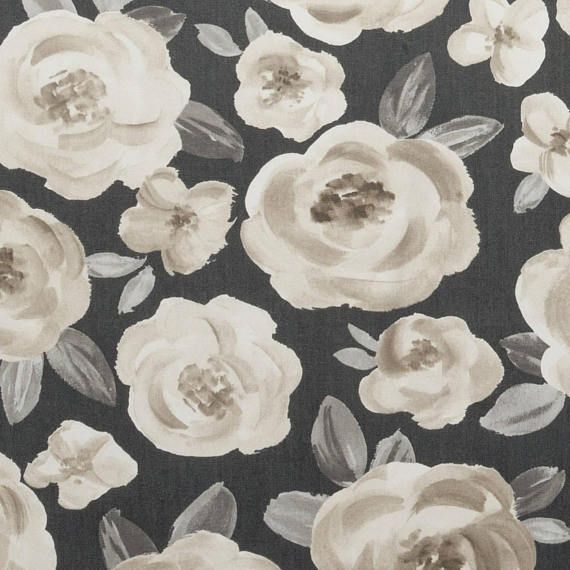 Grey Floral Upholstery Fabric By The Yard Custom Black Grey Floral Upholstery Fabric Fabric Decor Floral Upholstery