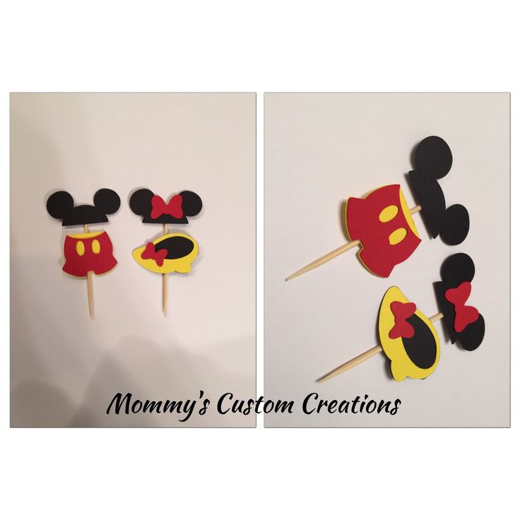 A personal favorite from my Etsy shop https://www.etsy.com/listing/257249536/mickey-mouse-cupcake-toppers-mickey-and