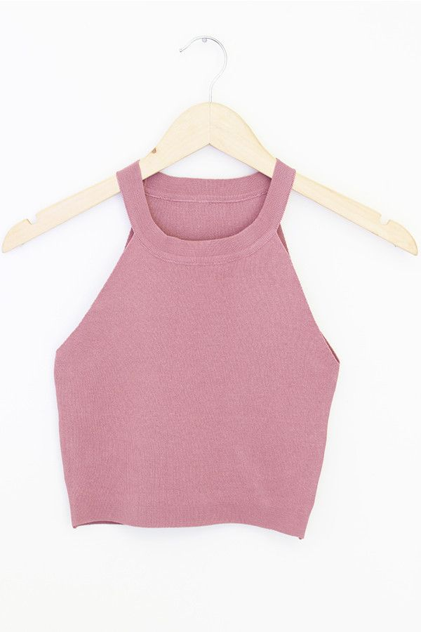 i'm obsessed with this color / the shirt i'm wearing now is the same color | pink crop tank too high collar tee shirt top shirt fashion teen girl style