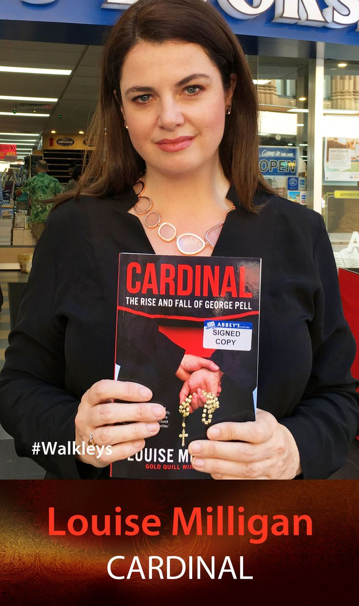 Louise Milligan with CARDINAL: The Rise and Fall of George Pell. #abbeysbookshop #131york #Sydney #nonfiction #investigation #walkley