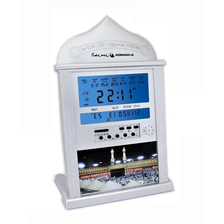 28.42$  Buy here - https://alitems.com/g/1e8d114494b01f4c715516525dc3e8/?i=5&ulp=https%3A%2F%2Fwww.aliexpress.com%2Fitem%2FFree-shipping-Automatic-Islamic-product-azan-clock-AL-4004-1150-cities-azan-time-Hijri-Fajr-alarm%2F759362734.html - Automatic Islamic Product Desk Clock White Al 4004 Have 1150 Cities Azan Time /hijri Fajr Alarm 2016 New muslim clock 28.42$
