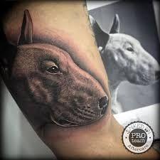 Výsledek obrázku pro bullterrier tattoo