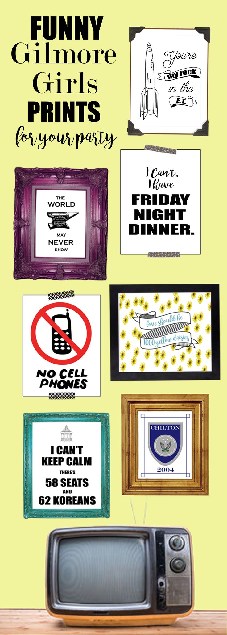 Beautiful Gilmore Girls Prints for my Gilmore Girls revival party! Gilmore Girls: A Year In The Life. Gilmore Girls Quotes Gilmore Girls Shirt