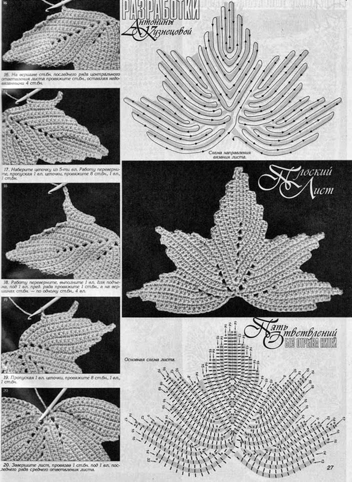 KUFER: MOTYWY IRLANDKI  irish crochet detals. Diagrams to follow. ﻬஐCQஐﻬ…