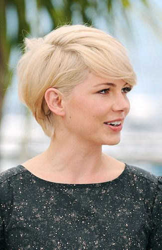 Side-Swept Pixie hair - Michelle Williams