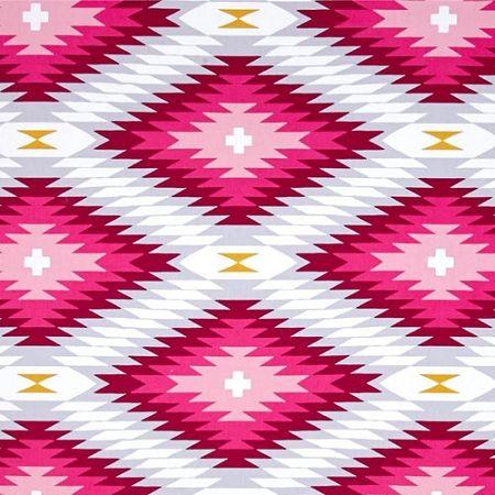 Pink Aztec Fabric | Joel Dewberry Wander Azteca in Rosetta #tribalfabric