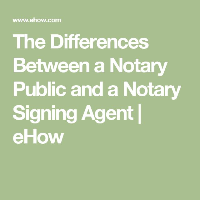 The Differences Between a Notary Public and a Notary Signing Agent | eHow