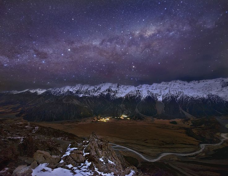 Beyond The Plains, Touching The Sky by Yan Zhang. Artprints from www.imagevault.co.nz. #Canterbury Plains #New Zealand # Southern Alps