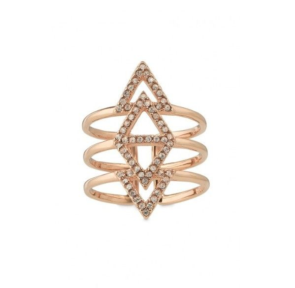 Rose Gold Fish Bone Ring