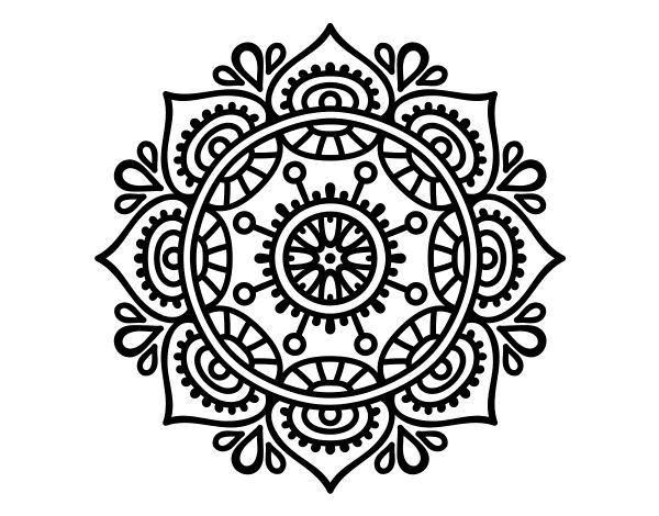 Dibujo de Mandala para relajarse para Colorear