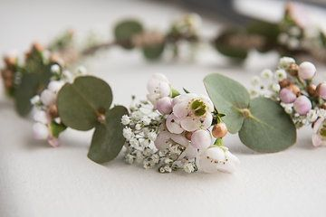Fresh native flower crown for flower girls. By Naomi Rose Floral Design Jerome Cole Photography