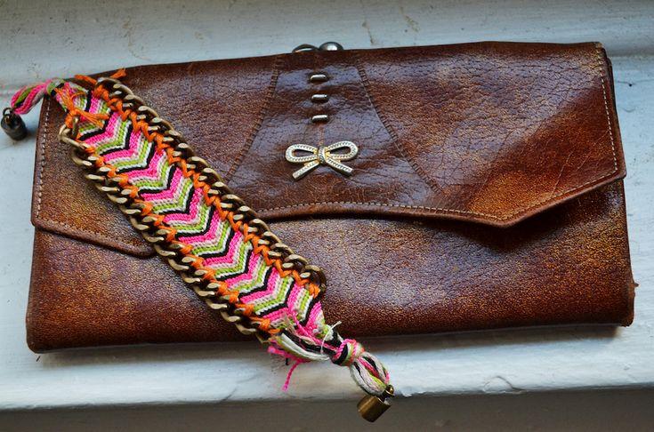 DIY Dannijo bracelet- friendship bracelet & curb chain.