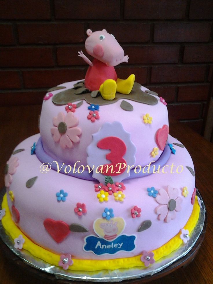 #PeppaPig #cake by @volovanProductos
