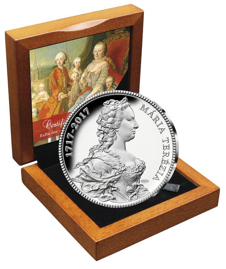 Ražba dne! Pamětní medaile z ryzího stříbra - 300. výročí Marie Terezie