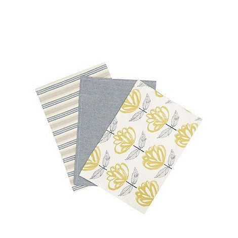 These tea towels from The Collection will make a refreshing addition to a kitchen. From leaf patterns to stripe print, they boast a vibrant palette and are made purely from cotton.