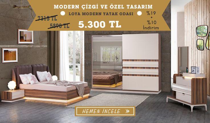 Modern Tasarım Loya Modern Yatak Odası Takımını görmek ve özel fiyat avantajı için sizleri mağazamıza davet ediyoruz...  Tarz Mobilya   Evinizin Yeni Tarzı '' O '' 0216 443 0 445  whatsapp : +090 532 722 47 57