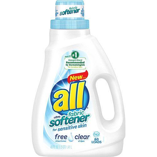 All Free Clear Ultra Fabric Softener for Sensitive Skin, 48 fl oz