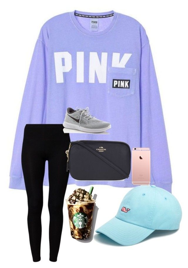 """happy sunday!"" by prepstermaddy ❤ liked on Polyvore featuring American Vintage, Vineyard Vines, Coach and NIKE"