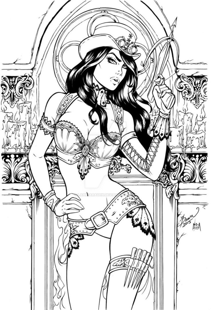 Sexy coloring pages for adults