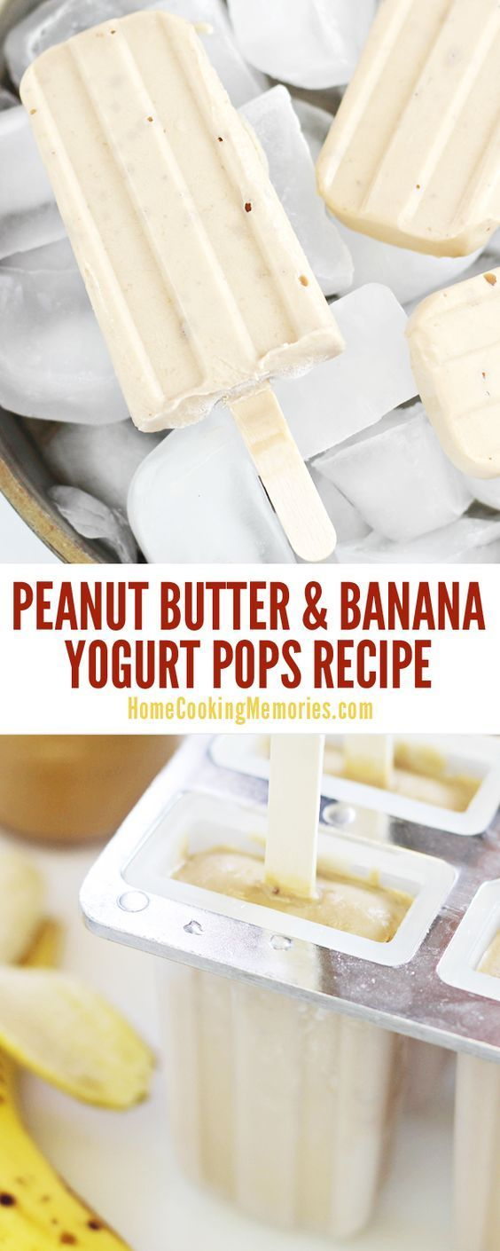 So delicious! This Peanut Butter and Banana Yogurt Pops recipe is healthy easy to make and you'll only need 4 simple ingredients: peanut butter bananas yogurt and honey.