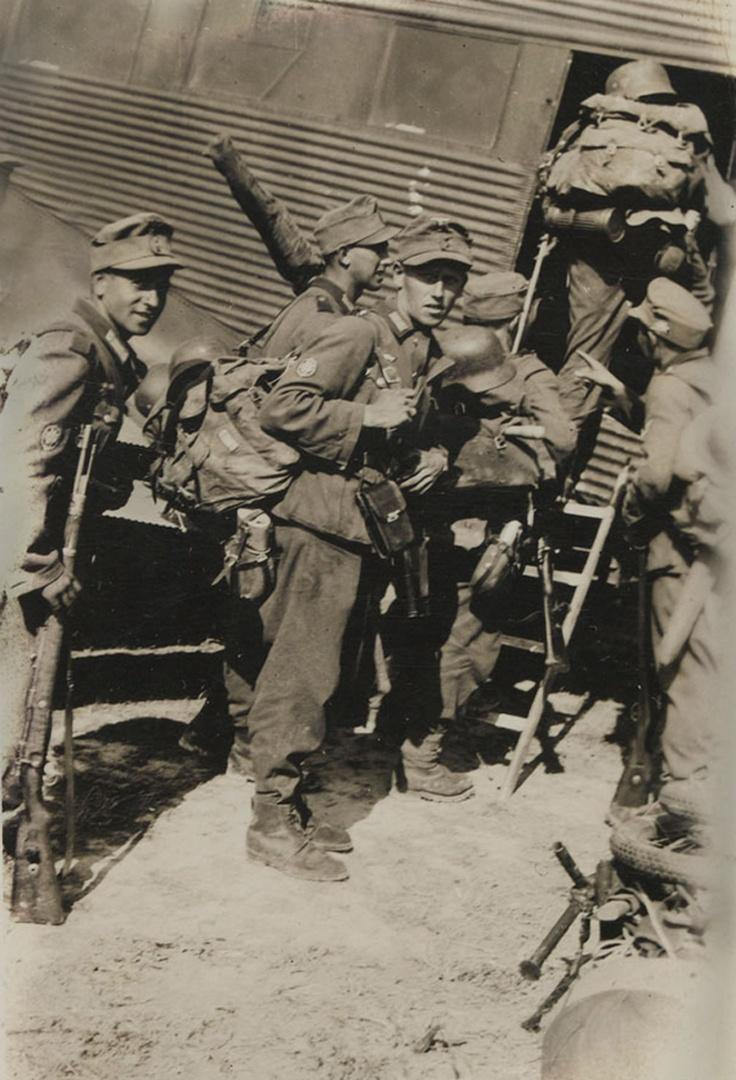 Boarding for Crete - 1941