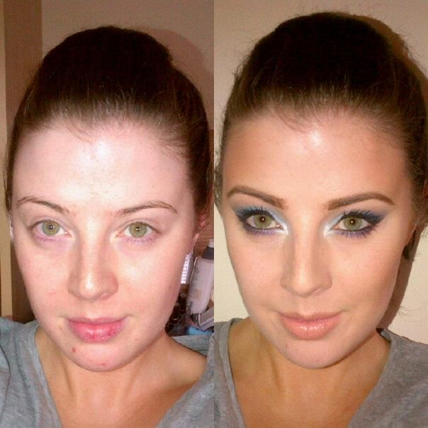 The magic of makeup... Me before and me after!
