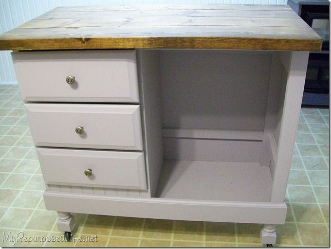 Kitchen Island Made From A Dresser