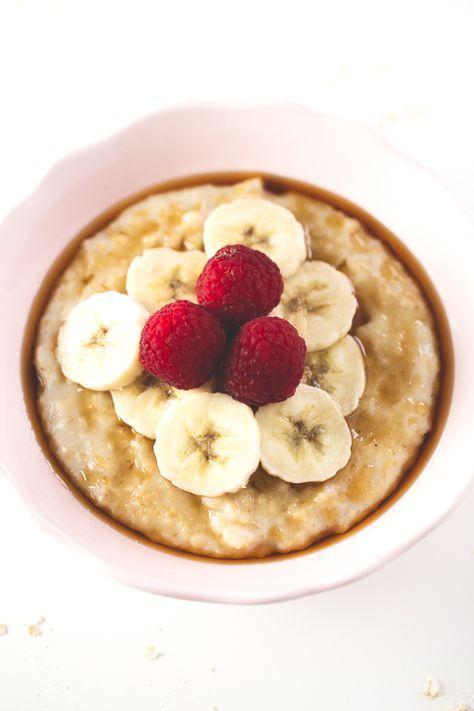 Gachas de avena porridge - Las gachas de avena o porridge son mi desayuno preferido ahora mismo, no me canso de ellas y son muy saciantes, además, ¡están riquísimas!