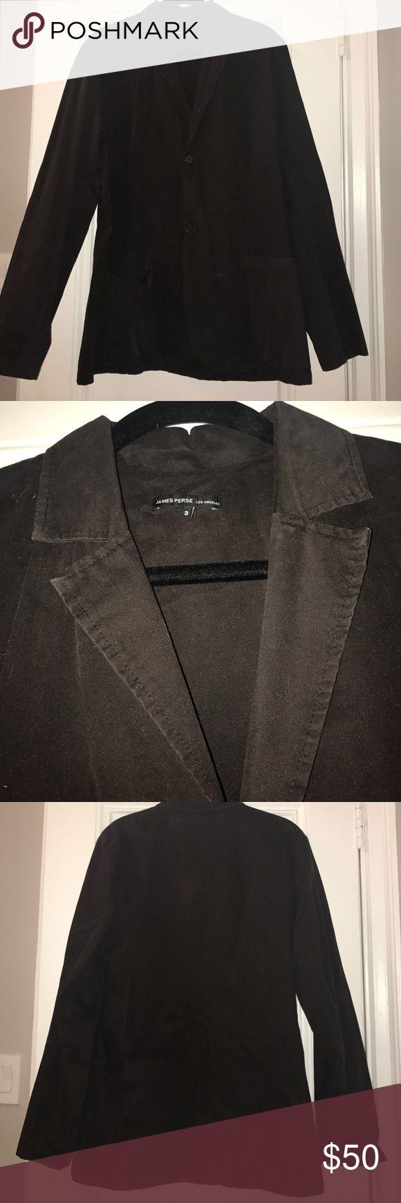 "James Perse ""size 3"" brown cotton blazer James Perse ""size 3"" 2-button no vent chocolate brown cotton blazer James Perse Suits & Blazers Sport Coats & Blazers"