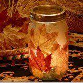 Recicle e decore - lanterna com folhas desidratadas