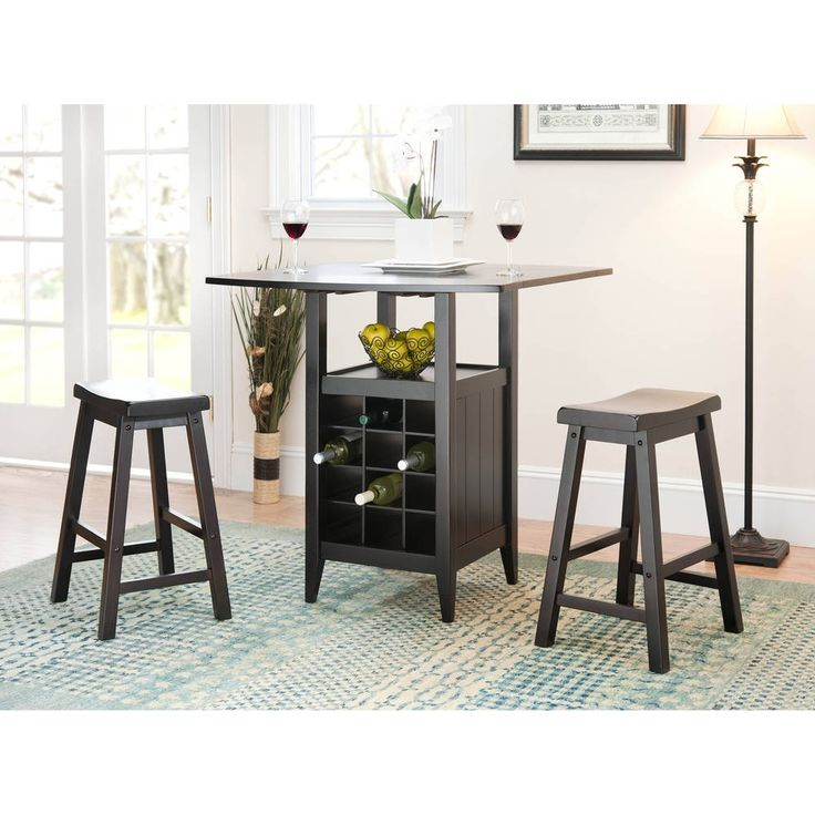 Safavieh Winery 3-piece Counter-Height Brown Storage Pub Set | Overstock.com Shopping - The Best Deals on Pub Sets