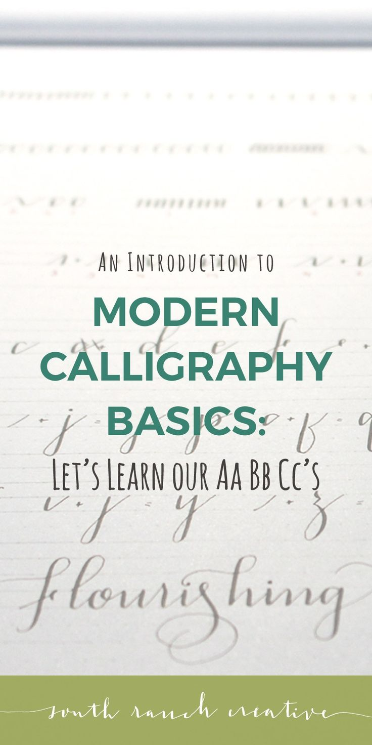 Best 25 Modern Calligraphy Alphabet Ideas On Pinterest