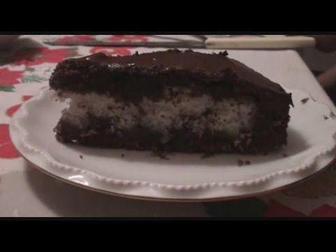 Torta al cacao con cuore di cocco e cioccolato fondente - YouTube