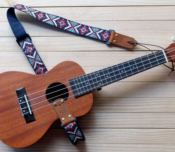 Red Retro Style Ukulele Strap 3 in 1 by Qilinlibrary on Etsy