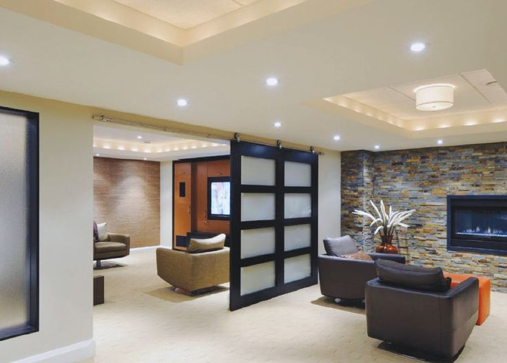 Designer Basements 24 stunning ideas for designing a contemporary basement stylish house design ideas I Like This For Our Small Basement Area Where We Are Dividing One Large Room Into A 34 Bath Office Laundrymechanical Room This Would Be A Nic