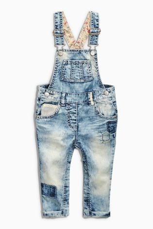 Buy Mid Blue Crochet Trim Dungarees (3mths-6yrs) online today at Next: United States of America