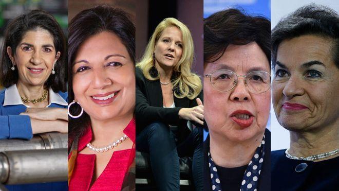 Cinco (5) de las #Mujeres poderosas en las #Ciencias en la #Foto: Fabiola Gianotti, Kiran Mazumdar-Shaw, Gwynne Shotwell, Margaret Chan, Christiana Figueres