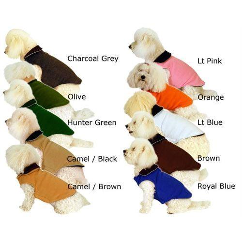 Reversible Fleece Dog Coat