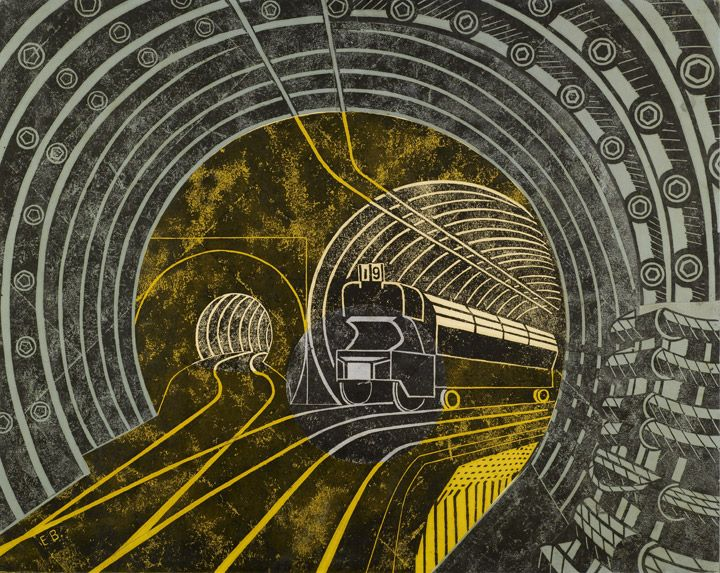 Post Office Railway poster by Edward Bawden 1935