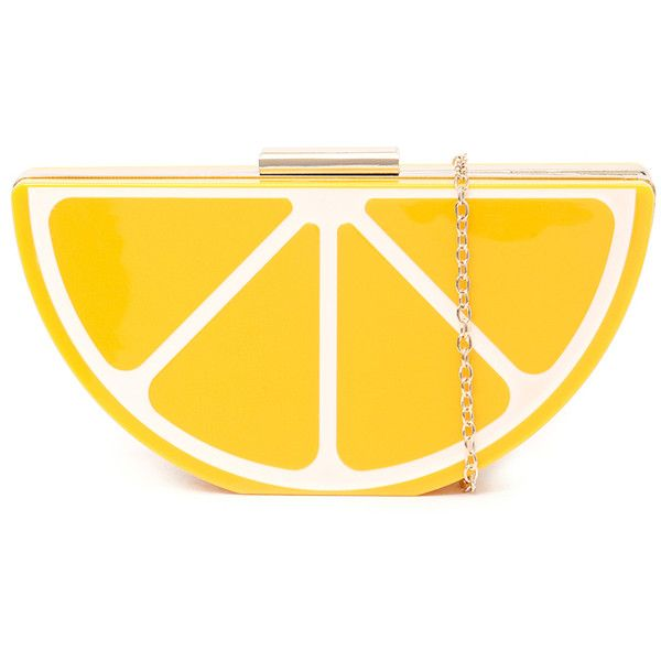 I Love Billy B531-Y0103 Yellow Clutch ($52) ❤ liked on Polyvore featuring bags, handbags, clutches, clasp purse, sling purse, sling handbags, faux-leather handbags and chain handle handbags