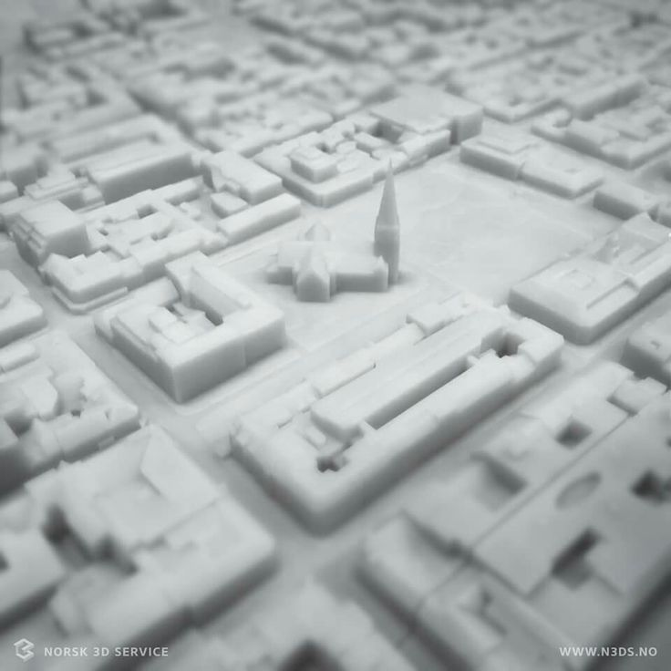 The new architectural model is coming. Scale 1:1000 3D printing SLA (Stereolitography)