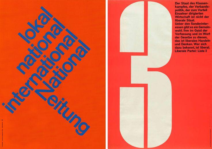 Karl-Gerstner-posters-National Zeitung lokal national international-1960
