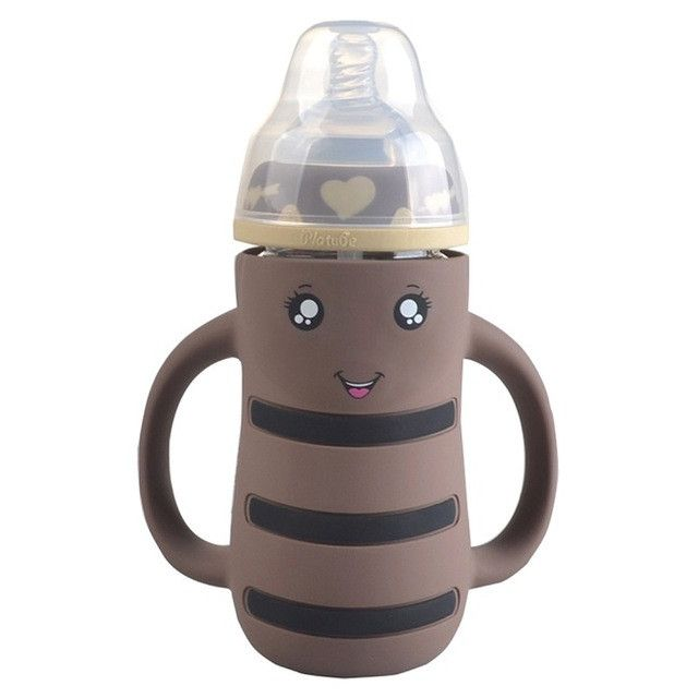 New Safety Baby Newborn Toddler Temperature Sensitive/Conventional Clear Feeding Bottle Milk Nibbler Feeder Feeding Tool